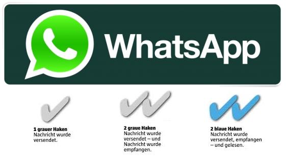 WhatsApp haken Häckchen erklärung